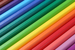 School supplies colored pencils forming a background Royalty Free Stock Photo