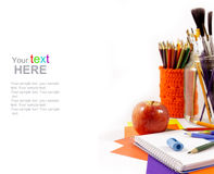 School supplies with copy space Stock Image