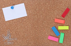 School Supplies and Copy Space for Your Text Stock Photo