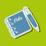 School supplies design Stock Images