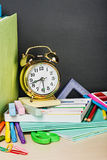 School supplies on the desk Royalty Free Stock Photography