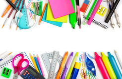 School supplies double border Stock Image