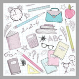 School supplies elements Stock Photos