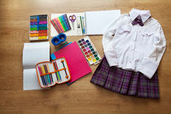 School supplies first-grader Stock Images
