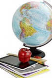 School Supplies and Globe Stock Photos