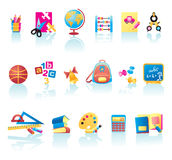 School Supplies Icon Set Royalty Free Stock Image