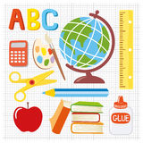School supplies illustration Stock Images