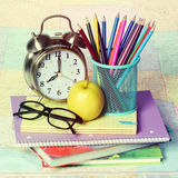 School Supplies isolated. Royalty Free Stock Photos