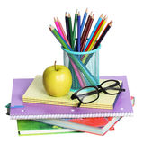 School Supplies isolated. Stock Photos