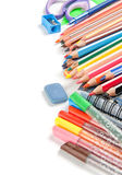 School supplies isolated Stock Image