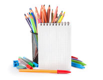 School supplies isolated Royalty Free Stock Photos