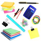 School supplies isolated Stock Images
