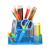 School supplies isolated Stock Image