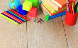 School supplies. The main word. Royalty Free Stock Photo