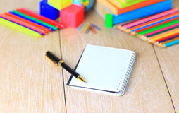 School supplies. The main word. Royalty Free Stock Photography