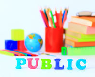 School supplies. The main word Royalty Free Stock Images