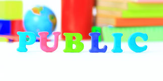 School supplies. The main word. Stock Image
