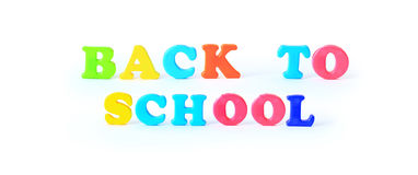 School supplies. The main word Stock Photos