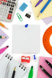 School supplies and note paper Stock Photography