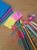 School and Office Supplies, Back to School,Stationery royalty free stock images