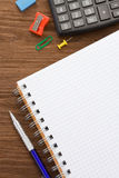School supplies and  paper notepad Stock Images