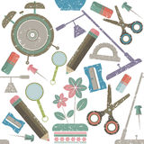 School supplies pattern Royalty Free Stock Image