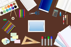 School supplies ready for use Stock Images