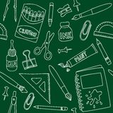 School supplies seamless pattern Stock Photo
