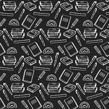 School supplies seamless pattern Stock Image