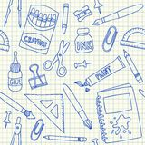 School supplies seamless pattern royalty free illustration