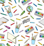School Supplies Seamless Pattern Royalty Free Stock Photography