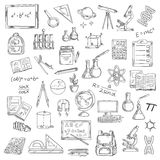 School supplies sketches for education design Royalty Free Stock Photos