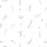 School supplies sparse pattern Stock Photos