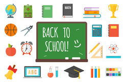 School supplies stationery equipment vector illustration. Stock Photo