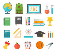 School supplies stationery equipment vector illustration. Royalty Free Stock Photography