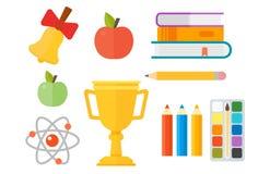 School supplies stationery equipment vector illustration. Stock Photos