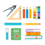 School supplies stationery equipment vector illustration. Royalty Free Stock Images
