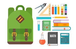 School supplies stationery equipment vector illustration. Royalty Free Stock Photos