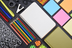School Supplies Still Life Top View Royalty Free Stock Image