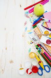 School supplies. On the table Stock Photos