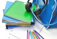 School supplies of a teenager Royalty Free Stock Photo