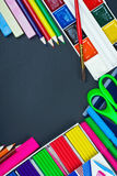 School supplies to the school board Royalty Free Stock Photography