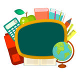 School supplies vector clip art objects. Royalty Free Stock Photos