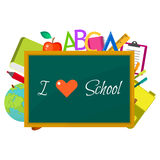 School supplies vector clip art objects. Royalty Free Stock Photo