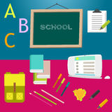 School supplies vector clip art objects. Royalty Free Stock Images