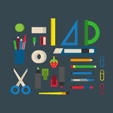 School supplies vector illustration. Royalty Free Stock Photography