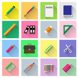 School supplies vector set. Colorful school supplies vector set collection Stock Image