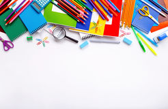 School supplies on a white background Stock Photography