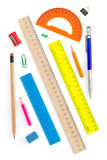 School supplies on white Stock Image