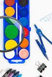 School supplies. For writing, painting and creation Royalty Free Stock Photo